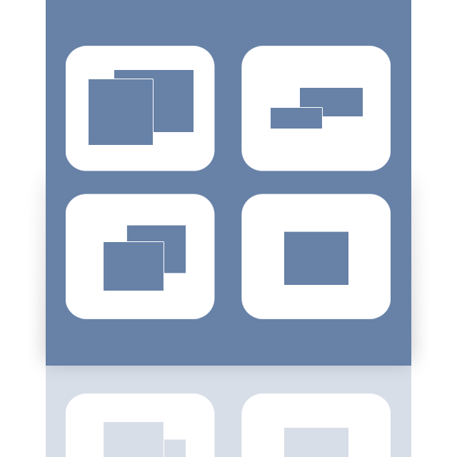 mirror, spaces icon