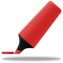 red, highlightmarker icon