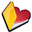 Folder favorits yellow icon