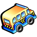 service, transportation, school bus icon