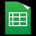 docs, xls, spreadsheet, google icon