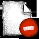 file, delete icon