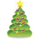 christmas, plant, tree icon