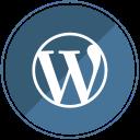 wp, cms, blogging, web, internet, blog, wordpress icon