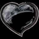 Heart black icon