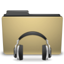 Folder, Manilla, Sound icon