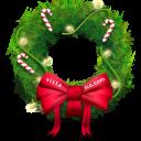 christmas, bow icon
