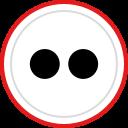 flickr, brand, logo, social, media icon