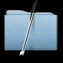 folder,blue,bic icon