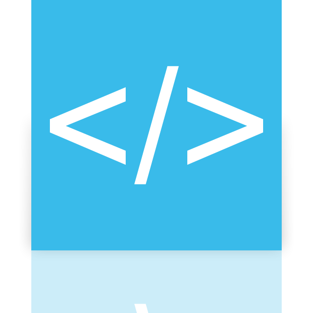 coding, app, mirror icon