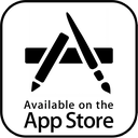 available, application, app store logo, app, the, appstore, storre, on, apple icon