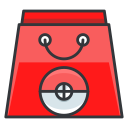 play, game, bag, go, pokemon, shopping icon