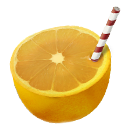 Orange straw icon