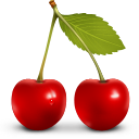 cherry, berries, fruit, vegetable icon