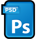 document, file, adobe, photoshop, cs, ps, paper icon