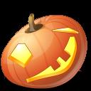 jack o lantern, pumpkin, wink, halloween icon
