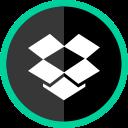 media, logo, social, dropbox, online icon