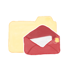 folder, vanilla, mail, ak icon