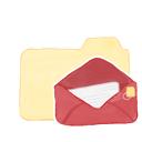 folder, vanilla, mail, ak icon