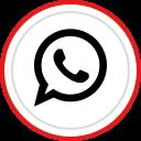 whatsapp, brand, media, social, logo icon