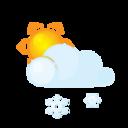 sun,lightcloud,sleet icon