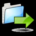 right, gif, folder, arrow, send, move icon