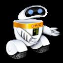 search, seek, find, robot icon