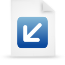 file, blue, document, paper icon