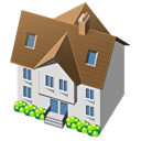 traditional, building, house, home icon
