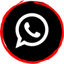 whatsapp, social, media, logo icon