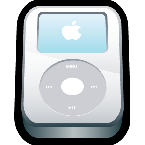 apple, video, white, ipod icon