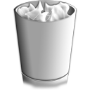 trash, full, recycle bin icon