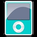 ipod, 3g, apple, nano, teal icon