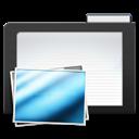 Dark, Folder, Images icon