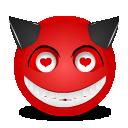 Devil love icon