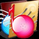 golden,music,folder icon