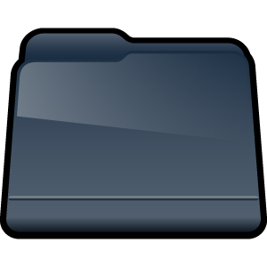 generic, folder, black icon