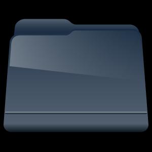 generic, folder, black icon
