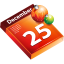 calendar, schedule, christmas, date icon