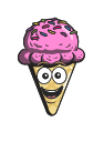 cone, emoji, cartoon, cream, ice icon
