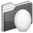 egg, black, folder icon