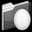 egg,folder,black icon