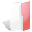 red, open, folder icon