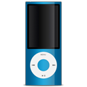 ipod, apple, blue icon