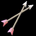 valentine, arrow icon