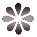 The traditional im ICQ icon