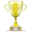 trophy, gold, winner icon