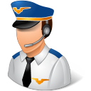Occupations Pilot Male Light icon