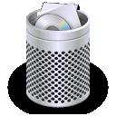 dock, trash, recycle bin, full icon