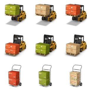 Cargo Boxes icon sets preview